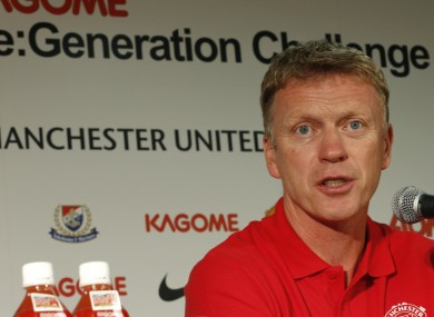 Manchester United's team manager David Moyes speaks during a news conference in Yokohama