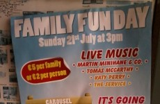 So, Katy Perry is playing in Ballinspittle this weekend