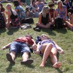 A couple enjoying the good weather at Longitude Music Festival in Marley Park Dublin. Pic: Karen Morgan Photography