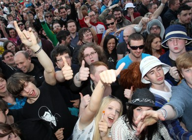Fans at last year's Stone Roses gig at the Phoenix Park