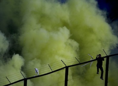 File photo taken when Boca Juniors faced River Plate in May.