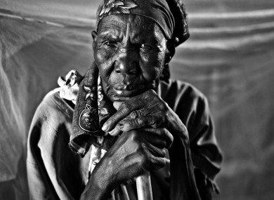 Irish photographer Julien Behal photographed this elderly woman in April as she waited to be treated in the GOAL clinic in Balliet, South Sudan.