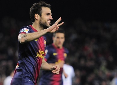 Cesc Fabregas has been at Barcelona for two seasons.