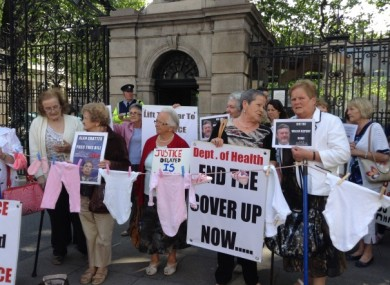 A 'Survivors of Symphysiotomy' protest outside Leinster House last month