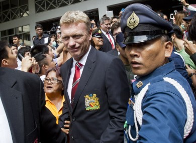 David Moyes and his squad touch down for their preseason tour.