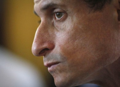 Embattled New York mayoral candidate Anthony Weiner