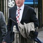 RTE's Sean O'Rourke arrives at St Gabriel's Church in Dollymount.<span class=