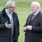 Fellow RTÉ Sport broadcasters Tony O'Donoghue and Jimmy Magee.<span class=