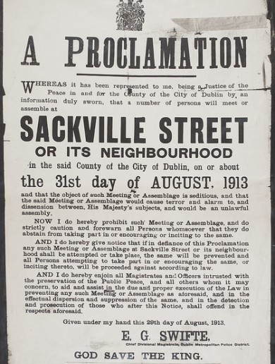 Dublin retailers angered over plans for 1913 Lockout commemorations