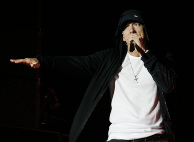 Eminem performing in Ireland in 2010