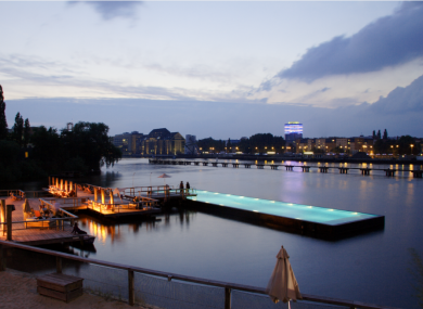 Badeschiff, a pool placed within the Spree river, in Berlin - a project that Dun Laoghaire would like to emulate.
