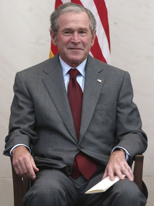 George W Bush pictured last month.