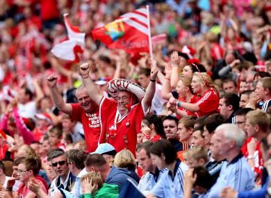 Cyril in the sombrero: Cork's fans celebrate in Croke Park.