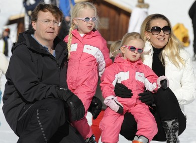 Prince Friso (left) with his wife Princess Mabel and their daughters in 2011