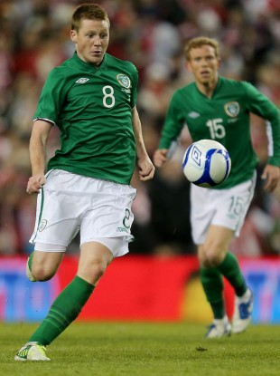 James McCarthy in action for Ireland against Poland.
