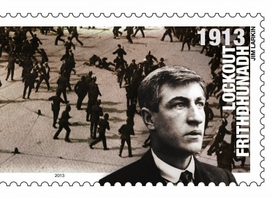 New stamp to mark the anniversary of the 1913 Lockout featuring Jim Larkin.