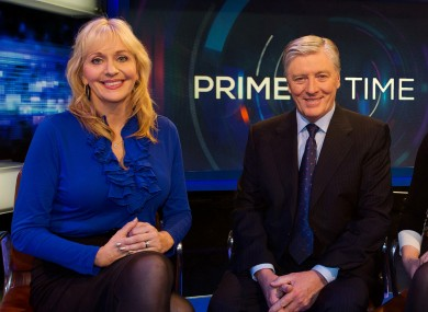 Miriam O'Callaghan with the Newstalk-bound Pat Kenny