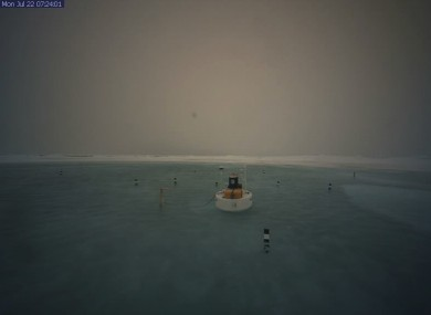 The webcam at the North Pole shows the lake
