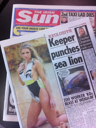 Model Rosanna Davidson was featured on yesterday's edition of the newspaper.