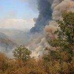 One of more than 50 major brush blazes burning across the western U.S. (AP PHOTO)