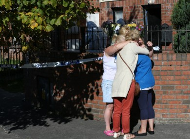 The scene outside the house where James Humphries was stabbed last night.