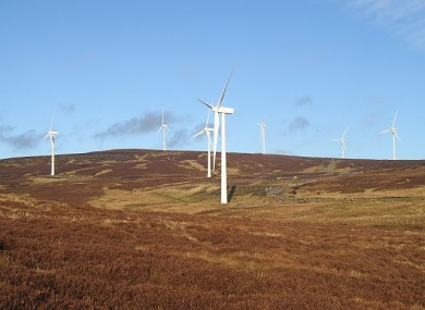 An Airtricity windfarm in Scotland.