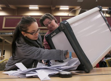 Ballot boxes are opened following the Children's Rights Referendum last year. (File photo)