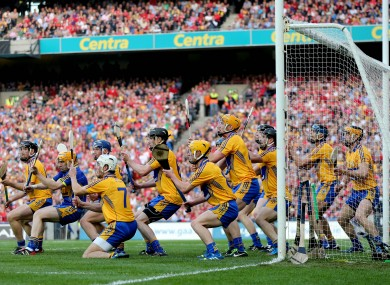 Clare failed to keep out Nash's first-half free.