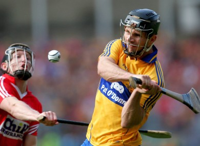 Clare's Domhnall O'Donovan hits the equalizing point.