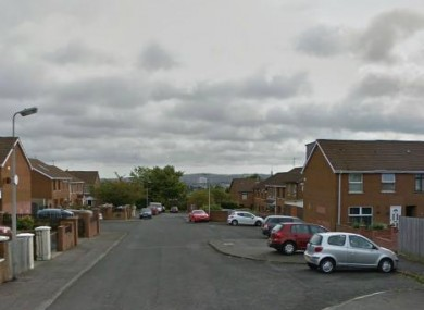 The Downfine estate in west Belfast