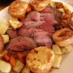 Roast beef and Yorkshire pudding, proposed by Quora user Godfrey M., is considered the national dish of England.  Sop up the flavour of the beefy gravy with the hot doughy bread. <span class=