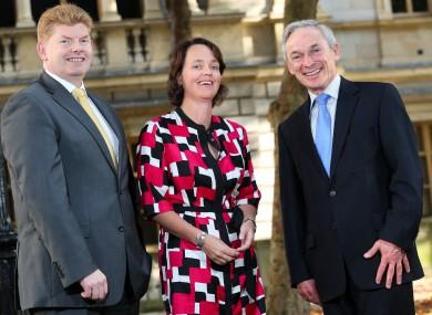 Managing Partner Mike McKerr, Partner Julie Fenton and Minister Bruton