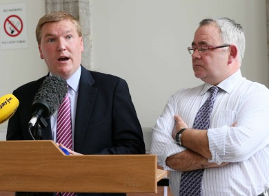 Fianna Fail's spokesman on Finance, Michael McGrath and deputy whip Sean Ó Fearghail.