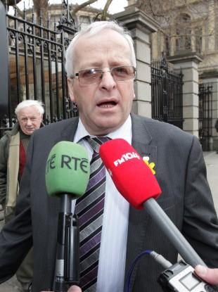Mattie McGrath pictured outside Leinster House