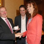Enda has some more tea with fellow Mayo native Michelle Mulherin<span class=