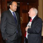 Minister for Transport, Tourism and Sport, Leo Varadkar and Minister of State at the same Dept, Michael Ring thinking together. <span class=