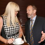 TD for Dun Laoghaire, Mary Mitchell O'Connor and MEP Sean Kelly enjoying a cuppa and thinking. <span class=
