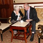 TD Catherine Byrne and Minister for the Environment Phil Hogan thinking.<span class=