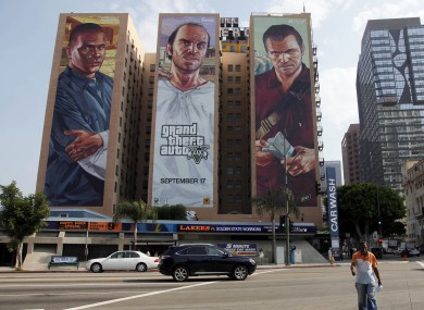 Big ads for Grand Theft Auto V in Los Angeles
