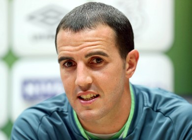 Italian's job: Republic of Ireland defender John O'Shea.