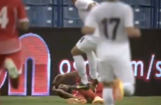 Kiwi player sent off for idiotic two-footed stamp in defeat to UAE