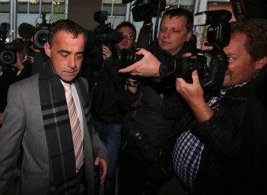 Coronation Street actor Michael Le Vell arrives at Manchester Crown Court.