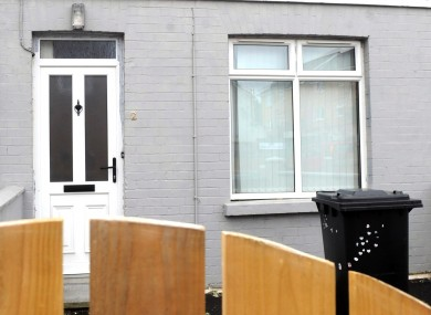 The house on Trinity Terrace in Lisburn where the body of 3-year-old Brendan Owens was found in July.