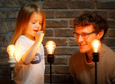 Ruby McHugh and Paddy Cosgrave, founder and CEO of the Dublin Web Summit, at the launch of applications for this year's ESB Spark of Genius Award earlier this month.