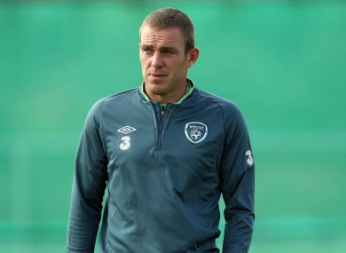 Richard Dunne, pictured at training
