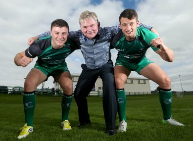 Former Connacht and Ireland captain Ciaran Fitzgerald (centre) with young guns Robbie Henshaw and Conor Finn.