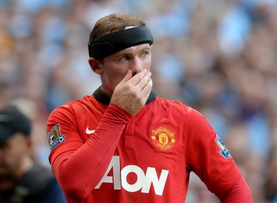 Manchester United's Wayne Rooney pictured during today's game.