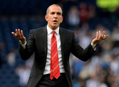 Paolo di Canio remonstrates with the Sunderland faithful.