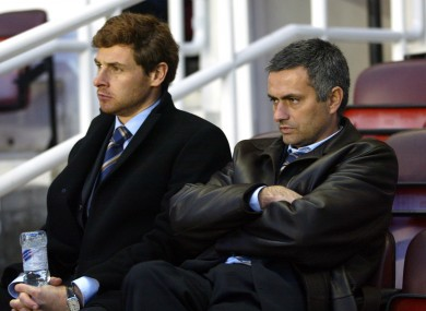 AVB and Mourinho during their first spells with Chelsea in 2004.