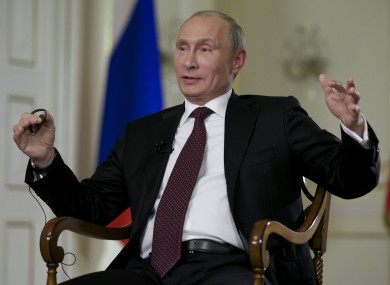Putin during the interview with Associated Press in Moscow